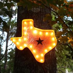 "Rustic 24"" Texas Marquee Light from The Rusty Marquee"