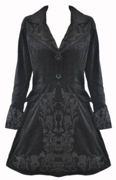 57fba557075 Goth Shopaholic  Stunning Winter Coats for Goths from Hell Bunny and Spin  Doctor