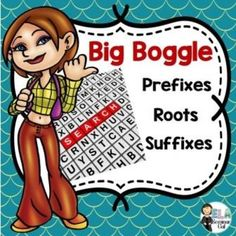 Prefix, Root and Suffix Review Activity: Big Boggle (priced)