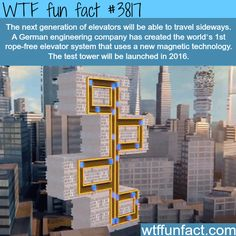 Next generation of elevators that will go sideways - WTF fun facts
