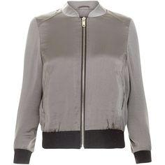 New Look Petite Khaki Sateen Bomber Jacket (£30) ❤ liked on Polyvore featuring outerwear, jackets, khaki, flight jacket, blouson jacket, bomber jacket, bomber style jacket and petite jackets