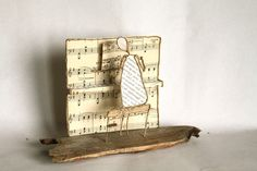 Le pianiste de Epistyle sur DaWanda.com Sculptures Sur Fil, Sculpture Art, Wire Sculptures, Wire Crafts, Diy And Crafts, Paper People, Experience Gifts, Wire Hangers, Wire Art