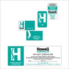 Howell Chiropractic – Digho Arts Business card • VIP card • VIP Gift Certificate