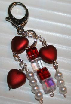 Beaded Key Chain purse charm beaded key by DakotaDesignsbyVicki, $16.00