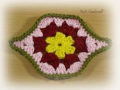 oval square motif.free pattern granny square,blanket
