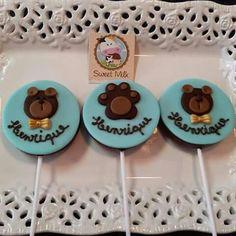 Pirulitos de chocolate ursinhos