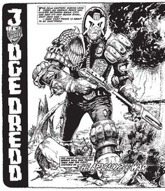 Judge Dredd Mega Collection Book Apocalypse War, Judge Dredd the Mega Collection: Apocalypse War starts off tame in comparison and slowly builds to a grand finale the likes of which possibly no ot. Comic Book Pages, Comic Books Art, Comic Art, Book Art, Marvel Comic Universe, Comics Universe, Abc Warriors, 2000ad Comic, Steve Dillon