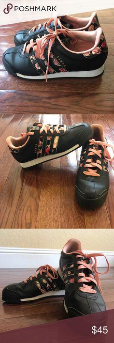 Adidas Samoa Black, blush pink, floral adidas Shoes Sneakers