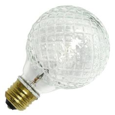 40 watt - 120 volt - G25 - Medium Screw (E26) Base - 2,850K - Cut Glass - Crystal - Globe - Decor - Eco | Westinghouse Halogen Incandescent Light Bulb