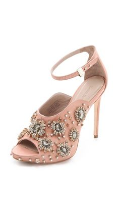 Rachel Roy  Dal Embellished Sandals   | SS2013  I think this would be cool little silver skulls-Dan J