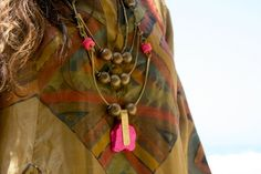 Love the shocking pink. Necklace by De Petra.