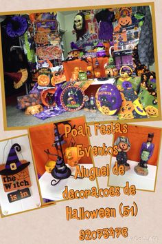 Locação de Decorações importados completas de Halloween nas lojas Poah Festas www.poahfestas.com (51)32095778/ 91353577 Poahfestas@live.com