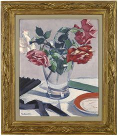Roses by Francis Campbell Boileau Cadell, R.S.A., R.S.W. (Scottish 1883-1937)