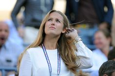 Tennis - 2012 US Open - Kim Sears, Andy Murray's girlfriend, watching Andy Murray going up against Novak Djokovic in the 2012 Men's Singles Final in Arthur Ashe Stadium. - Rob Loud/USTA