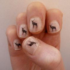 deer nail transfers by katebroughton on Etsy, £2.95
