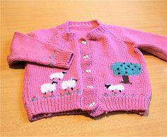 Sheep Farm Baby Sweater - Hand knit. $15.00, via Etsy. #vintagebaby