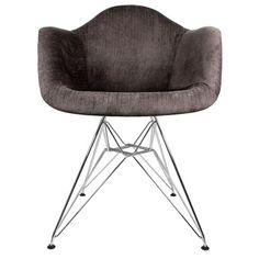 Found it at AllModern - Velvet Fabric Arm Chair