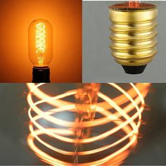 Edison Style Bulb E27 E26 Base Antique Light Bulbs, Vintage Lighting, Clear Glass, Light Fixtures, Vintage Antiques, Home Decor, Style, Antique Lamps, Swag
