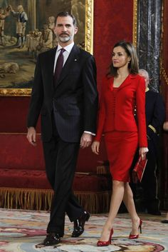 King Felipe & Queen Letizia attend 'Commemoration Of Cervantes Death' closing ceremony at the Royal Palace in Madrid 30 JAN