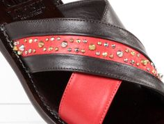 Italian Shoes, Brown Sandals, Love At First Sight, Designer Shoes, Decal, Black Leather, Italy, Touch, Boutique