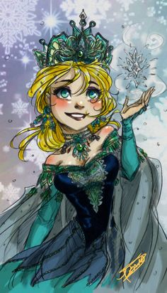 "Snow flakes by oasiswinds.deviantart.com on @DeviantArt - Elsa from ""Frozen"""