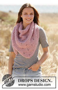 Drops Design, Knitting Machine Patterns, Knit Patterns, Yarn Brands, Work Tops, Knitting Accessories, Garter Stitch, Knitted Shawls, Knitting Designs