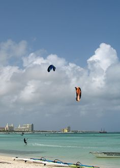Hadicurari Beach, Aruba is perfect for wind/water sports because it is not as sheltered from the steady trade winds as many of the other beaches are. The Hi-Winds World Challenge Windsurfing Competition is held on Hadicurari Beach every year in June.