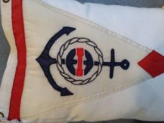 Nautical pillow from vintage yacht club burgee.  NY
