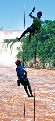 Everything in Iguaçu National Park is about the falls — see them by boat, helicopter or even abseil.