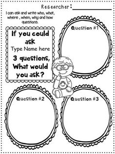 Author Study Printables~  EDITABLE Packet for 1st-2nd grades.  You can use this with ANY AUTHOR...past or present!  HOW COOL IS THAT!?!
