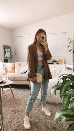 Normcore Outfits, Blazer Outfits Casual, Everyday Casual Outfits, Business Casual Outfits, Basic Outfits, Cute Casual Outfits, Cute Business Casual, Fall Outfits, Fashion Outfits