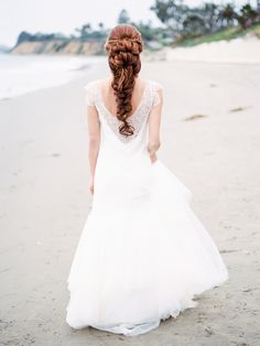 Stunning braided bridal updo