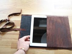 The experts at HGTV.com share easy instructions on how to make a case for your tablet using a scrap piece of leather. >> http://www.hgtv.com/shows/danmade/how-tos/how-to-make-a-leather-tablet-case?soc=pinterest