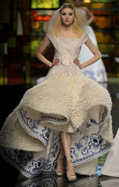 Paris (fashion week) Haute Couture Dress Designer John Galliano (2)
