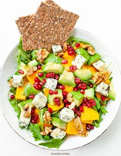 Sałatka z mango i awokado Mango, Cobb Salad, Salads, Cooking, Breakfast, Impreza, Food, Diet, Manga