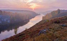 Сиреневый туман. Река Исеть, город Каменск-Уральский.