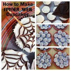 How to Make Spiderweb Cupcake
