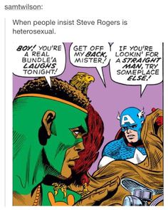 I didn't know about this for so long and now that I do, I can truly say that I love the idea of Steve being Bi