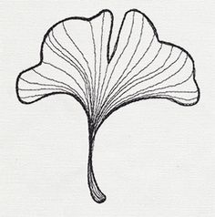 Engraved Ginkgo - Single Leaf | Urban Threads: Unique and Awesome Embroidery Designs