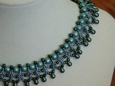 Bead Necklace Tutorial  Pattern Instructions di poetryinbeads