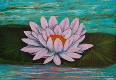 Acrylbild, Seerose 100x70