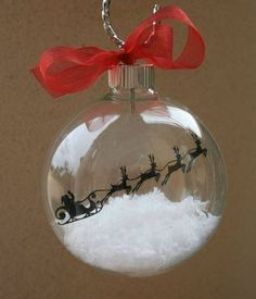 Calming Homemade Christmas Play Dough Floating Ornament Made with a Silhouette Cameo Ornament Crafts, Diy Christmas Ornaments, How To Make Ornaments, Christmas Projects, Holiday Crafts, Christmas Decorations, Vinyl Ornaments, Clear Ornaments, Cricut Ornament