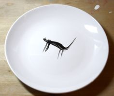Decorative Side Plate - Hand Painted - The Lonely Cat