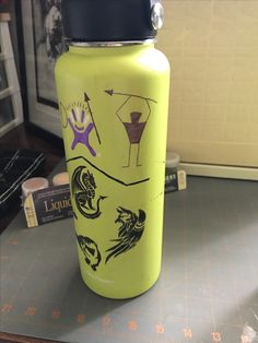 The hydro flask logo has always evoked images of petroglyphs for me.   Apparently that's bad when you have sharpies, free time and a water bottle in front of you.   Reminds me of doodles on my notebooks in middle school but I'm still going to use it every day.