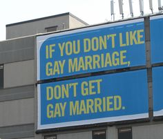 Gay marriage.