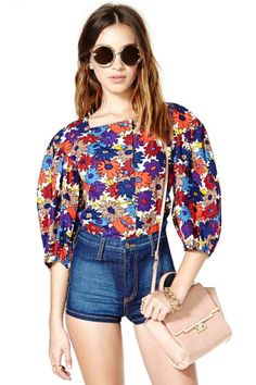 Saint Laurent Blooming Blouse