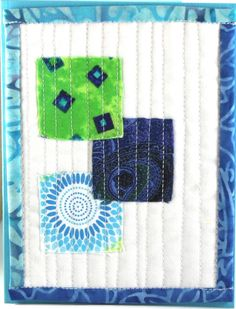quilted greeting card, modern style...