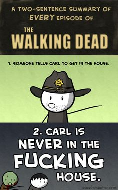 haha, watch your kid Lori! i cant freakin stand carl they should have gotten rid of him instead of shane! lmao
