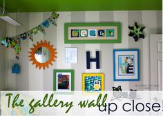 The Homes I Have Made: The Gallery Wall Up Close {Little Boy Room Project}