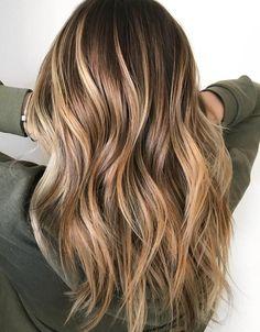 Glossy+Caramel+Balayage+Hair